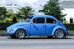 Vintage Private Car, Volkswagen beetle. Royalty Free Stock Images