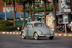 Vintage Private Car, Volkswagen beetle. Chiangmai, Thailand - February 16 2019: Vintage Private Car, Volkswagen beetle. Photo at Chiangmai Bus Station royalty free stock images