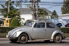 Vintage Private Car, Volkswagen beetle. Chiangmai, Thailand - January 16 2019: Vintage Private Car, Volkswagen beetle. Photo at road no.1001 about 8 km from stock photography