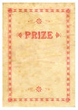 Vintage Prize Certificate Stock Photography