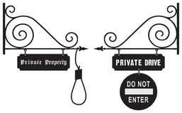 Vintage Prohibition Of Travel To Private Property Royalty Free Stock Photos