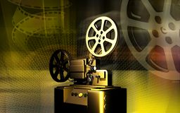 Vintage projector. Digital illustration of a vintage projector Royalty Free Stock Photos