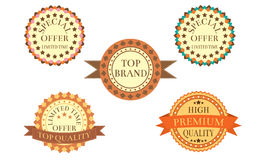 Vintage Promotion Badges Royalty Free Stock Photography
