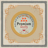Vintage promotion quality background Royalty Free Stock Images