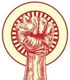 Vintage propaganda fist Stock Image