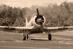 Vintage propeller airplane Royalty Free Stock Image
