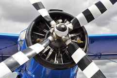 Vintage propeller airplane Stock Images