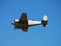 Vintage propeller airplane. World War II Beech C-45 Expeditor airplane Royalty Free Stock Photography