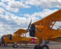 Vintage Propeller Airplanes Royalty Free Stock Photography