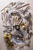 Vintage props collection Royalty Free Stock Images