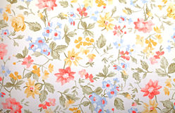 Vintage provance wallpaper with floral pattern royalty free stock photo