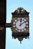 Vintage public clock Stock Images