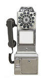 Vintage Public Payphone Isolated. Royalty Free Stock Photography