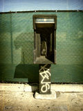 Vintage public phone Royalty Free Stock Photos