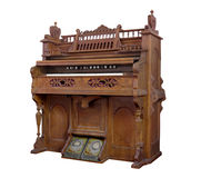 Vintage pump organ isolated. Royalty Free Stock Photo
