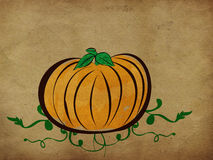 Vintage pumpkin background Stock Photo