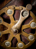 Punch clock. Vintage punch clock with morning in selected royalty free stock photos