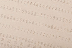 Vintage punched card Royalty Free Stock Photography