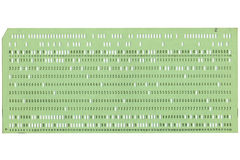 Vintage Punched Card. Vintage 80 Columns Punched Card Stock Photos