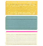 Vintage Punched Card. Vintage 80 Columns Punched Card Royalty Free Stock Image