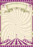 Vintage purple circus Stock Photography