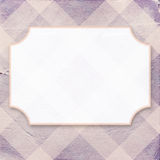 Vintage purple diagonal striped paper background with vintage fr Stock Photo