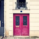 Purple door in Paris Royalty Free Stock Photography