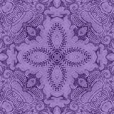 Vintage Purple Floral Tapestry Royalty Free Stock Image