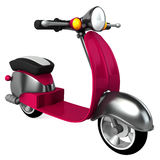 Vintage purple moped Royalty Free Stock Images