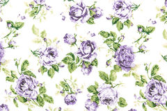 vintage purple rose on fabric background Royalty Free Stock Photo