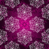 Vintage purple seamless pattern Stock Images