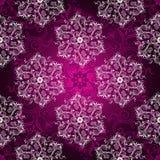 Vintage purple seamless pattern Stock Images