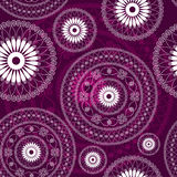Vintage purple seamless pattern Stock Image