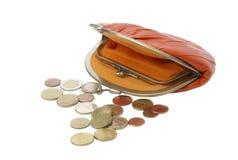 Vintage purse eel skin orange Royalty Free Stock Photo
