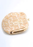 Vintage purse with gold embroidery Stock Images
