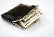 Vintage purse with money Stock Images