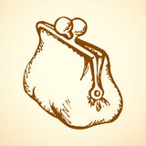 Vintage purse. Vector drawing Stock Image