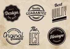 Vintage Quality Vector Labels Collection. Set of Vector vintage quality labels. The elements are  and colors editable Stock Photography