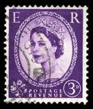 Vintage Queen Elizabeth II Postage Stamp Stock Photo