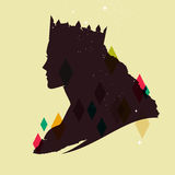 Vintage queen silhouette Royalty Free Stock Photography