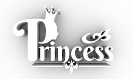 Vintage queen silhouette. Medieval queen profile Royalty Free Stock Photography