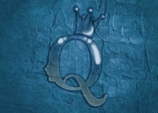Vintage queen silhouette. Medieval queen profile Royalty Free Stock Photos