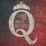 Vintage queen symbol. Motivation sentence Royalty Free Stock Photography