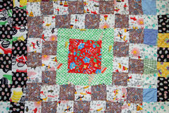 Vintage quilt royalty free stock images