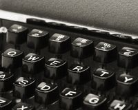 Vintage QWERTY Keyboard Stock Photography