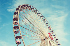 Vintage rétro Ferris Wheel Photos stock