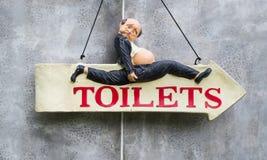 Vintage-rétro signe de toilette Images stock