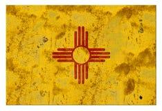 Vintage rústico de Albuquerque del Grunge de la bandera de New México fotos de archivo