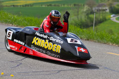 Vintage race car LCR Suzuki Sidecar from 2000 Stock Images