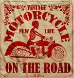 Vintage Race Motorcycle Retro Man T shirt Graphic Design Stock Photos